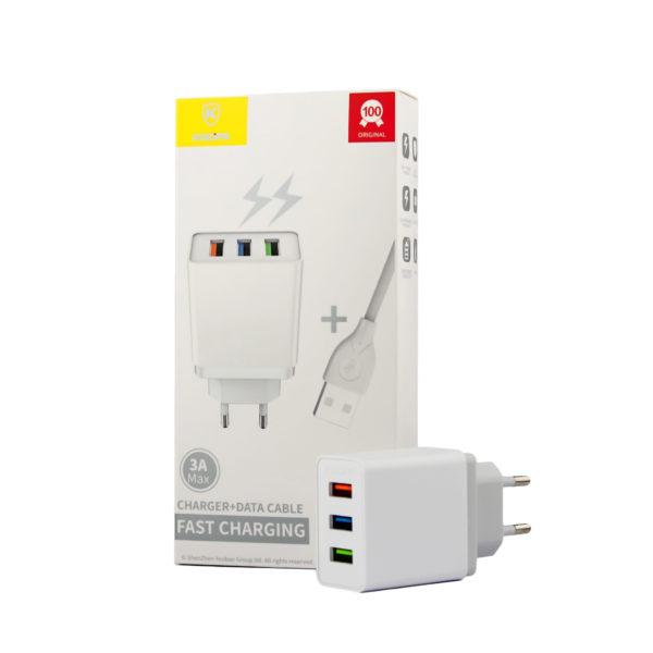 3 port USB charger plug